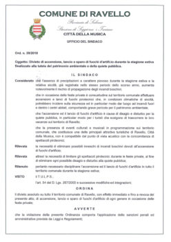 Ordinanza n° 39/2018