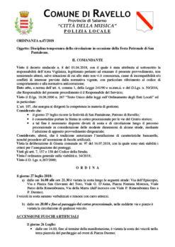 Ordinanza n° 47/2018