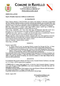 Ordinanza n° 49/2018