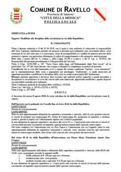 Ordinanza n° 50/2018