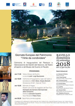 Ravello – Ritorna fruibile l'area alle spalle del Duomo. Domenica 23 settembre il taglio del nastro