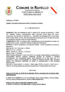 Ordinanza n° 52/2018