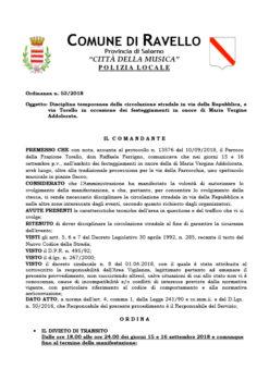 Ordinanza n° 53/2018