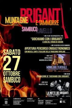 Si conclude sabato 27 ottobre l'evento «Briganti, Muntagne e Tammorre»