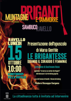 """Presentazione dell'opuscolo di Maria Gentile """"Le brigantesse (quando il coraggio è femmina)""""."""
