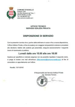 UFFICIO TECNICO SERVIZIO EDILIZIA PRIVATA