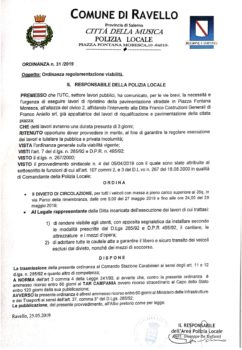 Ordinanza n°31/2019