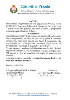 Avviso Accertamento TASI 2014 e IMU 2014