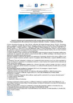 Bando Impresa Culturale e Creativa – Scadenza 11/02/2020