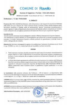 Ordinanza n° 13 del 19-03-2020