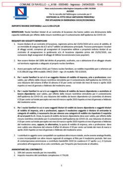 SOSTEGNO AL FITTO DELLE ABITAZIONI PRINCIPALI PER SITUAZIONI DI EMERGENZA SOCIO/ECONOMICA