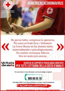 EMERGENZA CORONAVIRUS – LE INIZIATIVE DELLA CROCE ROSSA ITALIANA