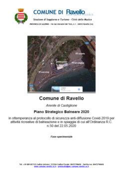 Arenile di Castiglione Piano Strategico Balneare 2020