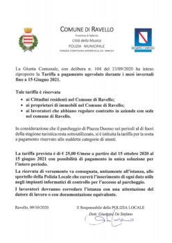 Domanda per l'assegnazione di posti auto nel parcheggio Duomo