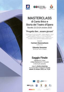 MASTERCLASS DI CANTO LIRICO E STORIA DEL TEATRO D'OPERA