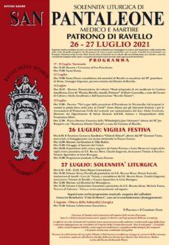 Solennità liturgica di San Pantaleone medico e martire – Patrono di Ravello